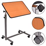 Overbed Rolling Table Over Bed Laptop Food Tray Hospital Desk With Tilting Top by MRT SUPPLY