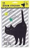 HAPPY Cat day 玄関扉ステッカー 黒猫