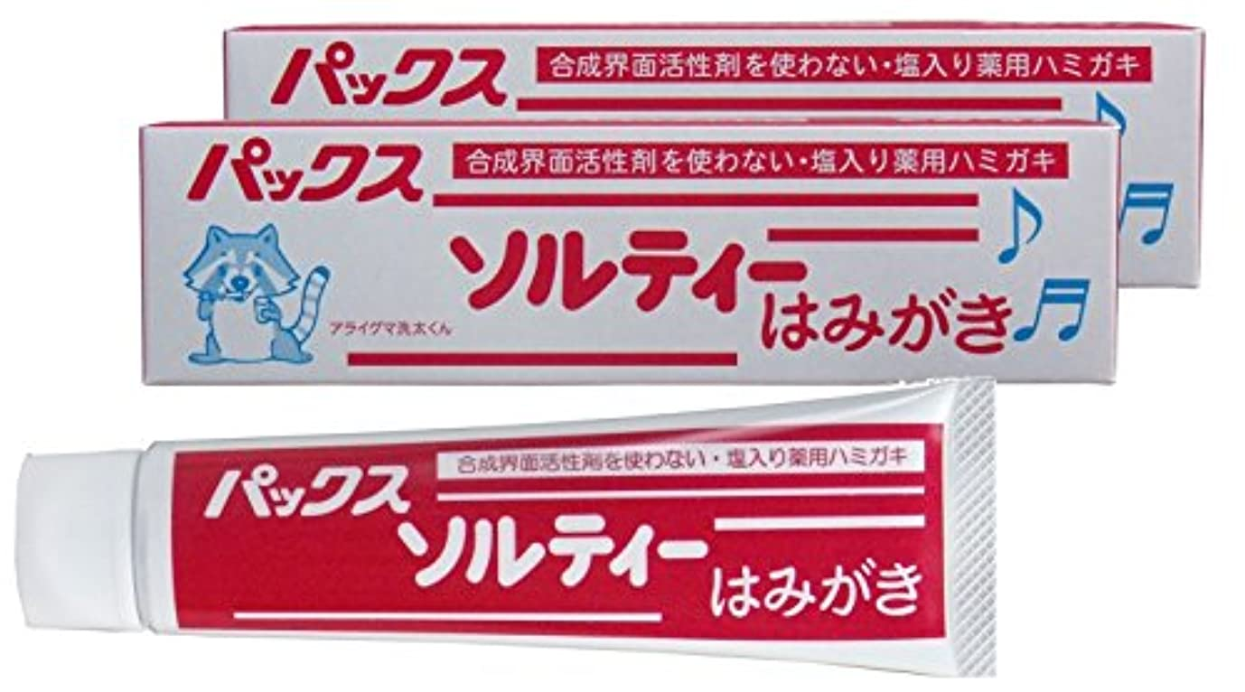 ぐったり正当化するコショウパックス ソルティーはみがき (塩歯磨き粉) 80g×2個