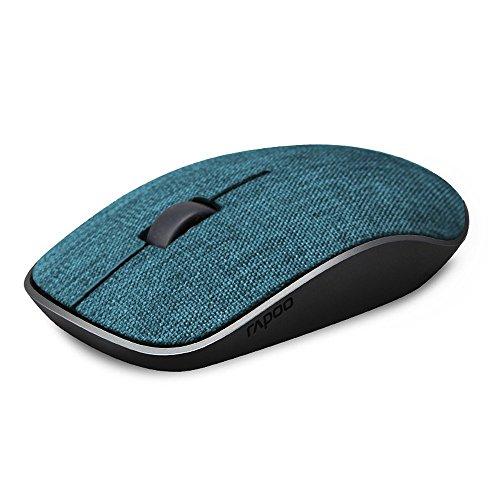 RAPOO 布製 ワイヤレスマウス 無線 マウス 2.4GHz 光学式 3ボタン 1000DPI 精度 コンパクト 省エネルギー 持ち運び便利 Mac/Windows/surface/Microsoft Proに対応【12ヶ月保証】(ブルー)