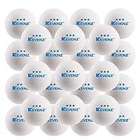 KEVENZ 50-pack 3-star 40mmオレンジテーブルテニスボール、高度なピンポンボール