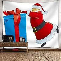 クリスマスサンタクロースタペストリー3Dデジタル印刷ポリエステル壁掛けテレビの背景壁の家具掛け布団寝室居間タペストリーピクニックブランケット壁掛けアート壁の装飾 (Color : 009)