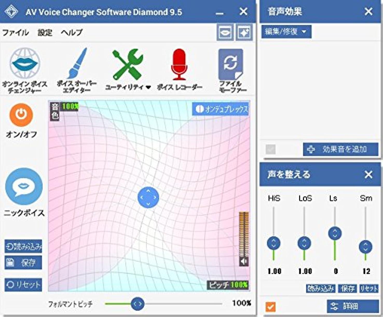 もろい鉛筆文芸AV Voice Changer Software Diamond Edition v.9.5.4(最新) ダウンロード版