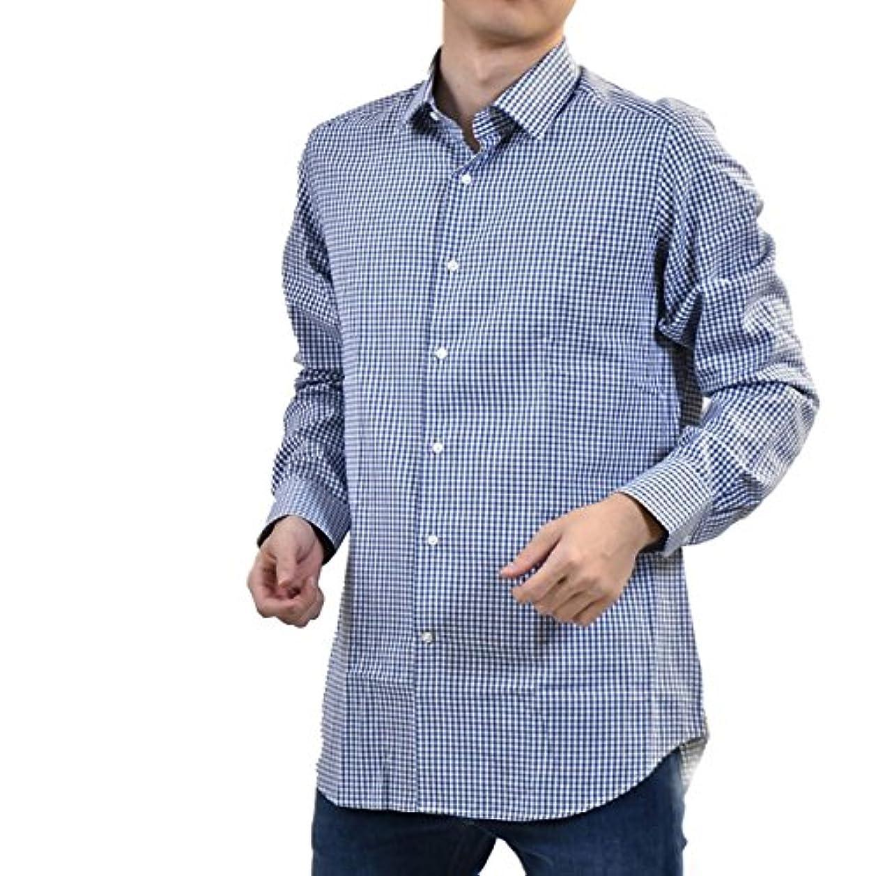 血隣接する先駆者(チット) CIT LUXURY セミワイドカラーシャツ 40 ブルー [並行輸入品]