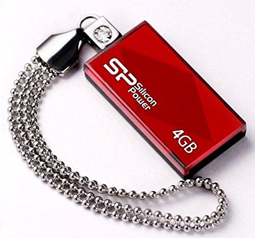 シリコンパワー USBメモリ 4GB USB2.0 スライド式 TOUCH 810 レッド SP004GBUF2810V1R