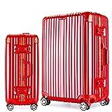 Osonmアルミニウムマグネシウム合金製 スーツケース キャリーバッグ 機内持ち込みスーツケース TSAロック 自在車 キャスター 5色6013 (L, レッド)