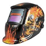 KKmoon 自動遮光溶接面 溶接ヘルメット 溶接マスク 自動フィルター アーク ティグ ミグ 研削 太陽光発電 (7)