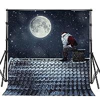 Sensfun メリークリスマス 写真撮影用背景 Happy New Year Booth背景 レッド 雪の結晶 写真背景 スタジオ小道具