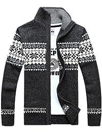 Thirteen one カーディガン メンズ ニットジャケット スタンドカラー ジャケット アウター ビジネス カジュアル おしゃれ 無地 シンプル 通勤 ジップアップ セーター