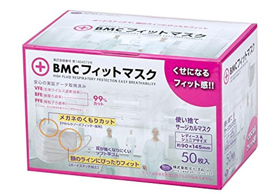 大人親バケットBMC フィットマスク 使い捨てサージカルマスク レディース&ジュニアサイズ 50枚入