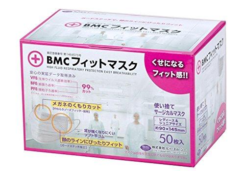 BMC フィットマスク レディース&ジュニア(使い捨て不織布マスク)(50枚入)