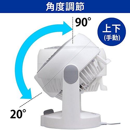 アイリスオーヤマ サーキュレーター 静音 固定 ~8畳 ホワイト PCF-HD15N-W