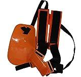 PEGAZOU(ペガ蔵) 草刈り機 用 両肩ベルト ハーネスタイプ 腰当て 安全ゴーグル付き (オレンジ)