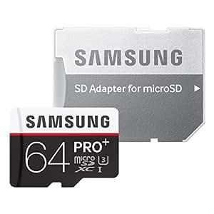 Samsung microSDXCカード 64GB PRO+ Class10 UHS-I U3対応 (最大読出速度95MB/s:最大書込速度90MB/s) MB-MD64DA/FFP