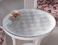 ソフトガラスラウンドテーブルクロスPVC透明防水テーブルマットティーテーブルマットテーブルプラスチックテーブルクロス(1.5mm) ( サイズ さいず : Diameter 140 cm )