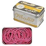 共和 輪ゴム オーバンド シルバー缶 30g #16 カラー (ピンク)