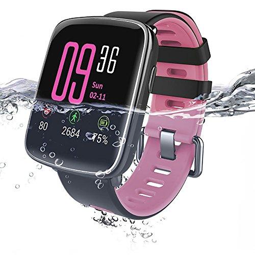 [해외]MindKoo 새로운 자료 GV68 스마트 시계 심장 박동 보수계 수면 모니터 무선 전화 SMS LINE 통지 長座주의 원격 음악 알람 시계 분실 방지 IP68 방수 교체 밴드와 Android &  iPhone 용 일본어 설명서 포함/MindKoo New Edition GV68 Smart Watch Hea...