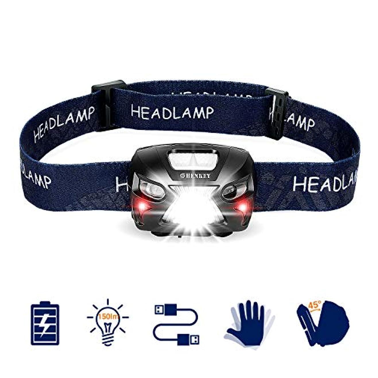 説教する筋肉のいつヘッドライト LEDヘッドランプ usb充電式 300lm/1200mah センサー機能 SOSフラッシュ機能 小型軽量 IXP4防水 防災/作業用 耐衝撃(12ヶ月の安心保証)