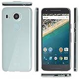 OVER's グーグル ネクサス 5X ケース / Google Nexus 5X カバー 0.8mm TPU 4点セット ( Nexus カバー *1 & 液晶保護フィルム*1 & ミニクロス*1 & 埃取りセット*1 ) 365日保証付き