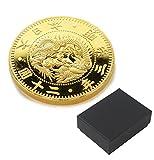 復刻版 近代銭 明治三年銘 旧二十圓 金貨 金鍍金 プルーフ調仕上げ 化粧箱入り