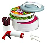 Nesco ネスコ 食品乾燥機 ジャーキーメーカー American Harvest FD-61WHC Snackmaster Express Food Dehydrator All-In-One Kit with Jerky Gun【並行輸入】