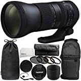 Tamron SP 150–600mm F / 5–6.3Di VC USD g2for Nikon F 11pc Accessory Bundle–Includes 4pc Warmingフィルタキット+変数ニュートラル密度フィルター( nd2-nd400) +バックパック+ More