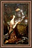 ( v04–11–12)ジョン・_ William _ Waterhouse _ Lamia _ and _ the _ soldier _フレーム_キャンバス_ Giclee _プリント_ w22_ X _ h36 +[Large] #06-Brown/Gold V04-12F-MD393-03