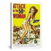 "iCanvasART Attack of the 50Foot Womanヴィンテージ映画ポスターキャンバス印刷 26"" x 0.75"" x 18"" 26x18x5067"