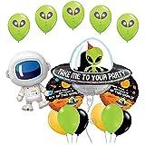 宇宙のエイリアンと愛らしい宇宙飛行士 誕生日パーティー用品 バルーンブーケデコレーション