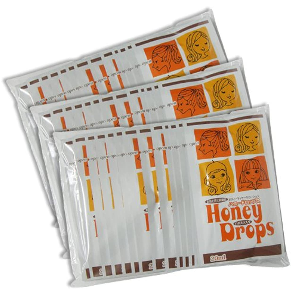 不幸代表電化するハニードロップス(Honey Drops) 20ml 使い切りローション D柄 × 60個