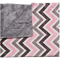 bkb Chevron Baby Blanket, Pink/Gray/White [並行輸入品]