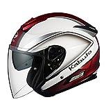 オージーケーカブト(OGK KABUTO)バイクヘルメット ジェット ASAGI CLEGANT (クレガント) パールホワイト XS (頭囲 53cm~54cm)