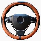 ZATOOTO車用ハンドルカバー 本革 高品質ステアリングカバー 高級感溢れ 四季汎用 LY98-HKC