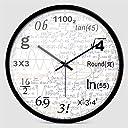 ヴィンテージハンギングウォールクロック 数学関数壁時計パーソナリティ教室生徒用時計大型リビングルーム現代的なミニマリスト吊りテーブルクリエイティブ(カラー:ホワイト サイズ:14inch) リビングルームの寝室用装飾時計 (色 : Black, サイズ : 12inch)