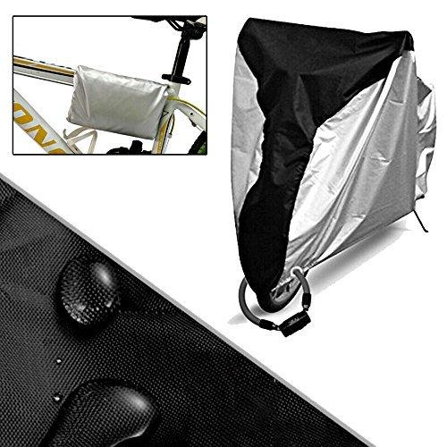 自転車カバー 防水 撥水加工UVカット 風飛び防止 破れにくい190T 収納袋付き26インチまで対応...