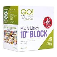 AccuQuilt GO! 布製カッティングダイ; GO! Qube Mix & Match 10インチブロック