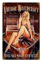 なまけ者雑貨屋 Vintage Watercraft - Pin-Up Girl アメリカン 雑貨 アンティーク レトロ 看板 壁飾り ドア飾り