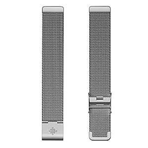 Fitbit フィットビット Inspire/InspireHR 専用 ステンレスメッシュバンド Silver シルバー【日本正規品】 FB169MMSR