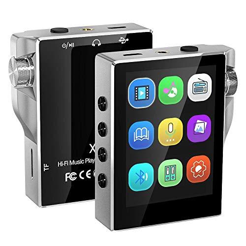 MP3プレーヤー 16GB HIFIロスレス音質 Gueray デジタルオーディオプレーヤ Micro SDカード対応 Bluetooth対応 多機能 時計 FMラジオ 電子ブック 録音 合金製 日本語説明書付き シルバー
