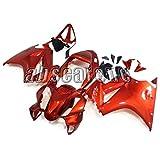 オートバイの外装部品 適応ホンダ VFR800 2002-2012 VFR800 02 03 04 05 06 07 08 09 10 11 12 年間 ABS樹脂 カウリングオートバイカバーフルセットオレンジレッド