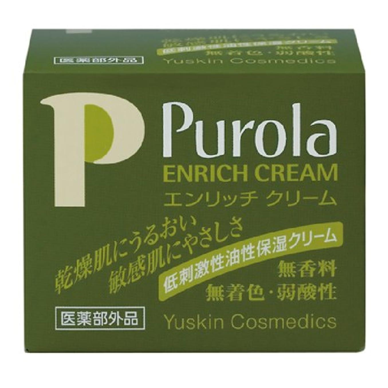 聴覚努力寛大なプローラ 薬用エンリッチクリームa 67g