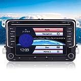 ヘッドポーター Eincar Autoradioダブル2DINカーステレオ7インチの容量性タッチスクリーンVW GPSナビゲーションのサポートミラーリンクSWC FM/AMラジオカムイン用のカーDVDプレーヤーヘッドユニットカーラジオ