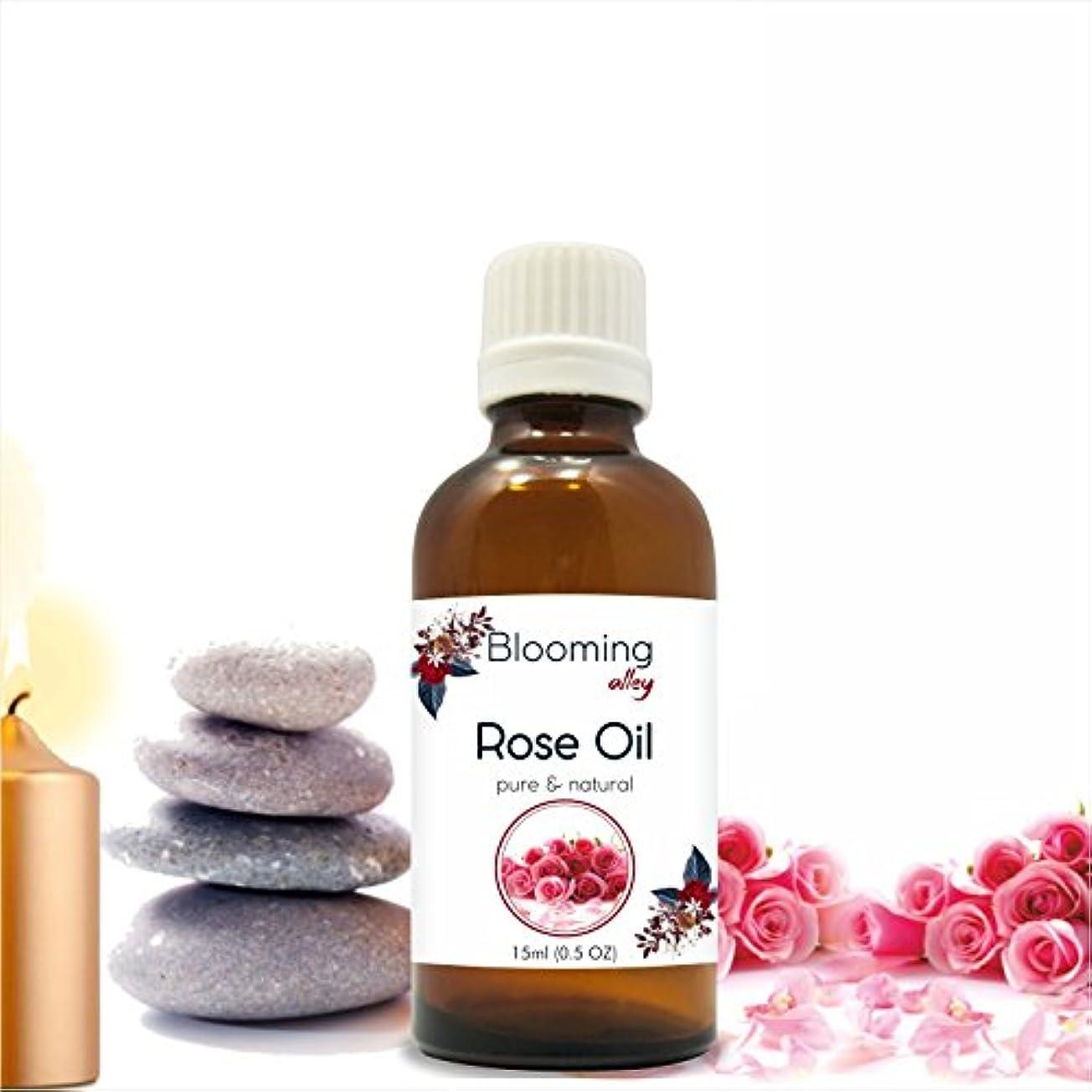 自動的にバリア歩行者Rose Oil (Rosa Damacenia) Essential Oil 15 ml or .50 Fl Oz by Blooming Alley