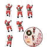 クリスマス はしごサンタ クリスマス飾り はしごサンタクロース サンタ人形 装飾グッズ クリスマスツリー 飾り おもちゃ 人形 はしご サンタ ツリーデコレーション ドアオーナメント インテリア飾り 贈り物 子供 雰囲気 zk1064 (1人サンタ)