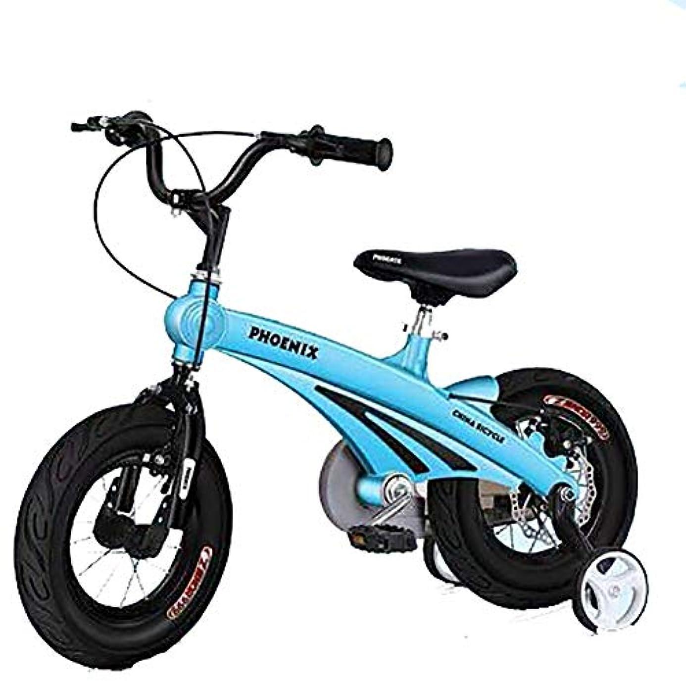 君主制うまれた傾斜スポーツバランスバイクペダルウォーキング自転車なしマグネシウム合金フレーム、調整可能なハンドルバーとシート、2?10歳用のキッズバランスバイク、12インチ14インチ16インチインチ子供用サイクル