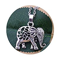シルバーエレファントネックレス ラッキーチャームのネックレス、象のジュエリー 動物のネックレス、幸運の贈り物