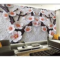 Wuyyii カスタム3D壁紙デザイン中国の梅写真キッチン寝室のリビングルームの壁壁画400×280センチ