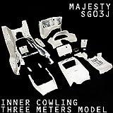ヤマハ MAJESTY マジェスティ 250 SG03J 3連 メーター ホワイト 塗装済 内装 インナーカウル 15点セット T-1