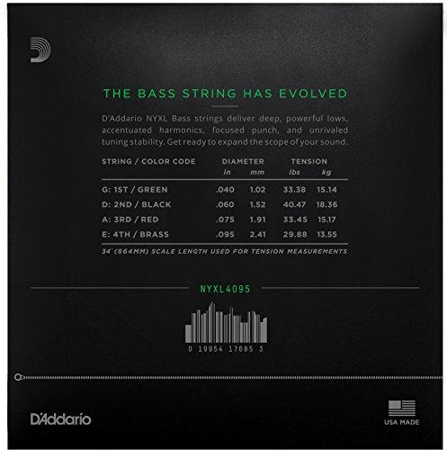 D'Addario ダダリオ ベース弦 NYXL Long Scale .040-.095 NYXL4095 【国内正規品】