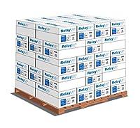 リレーMPプリンタ用紙、Multipurposeコピー用紙、20lb、8.5X 11,パレットレター、92明るい–1/ 5, 000シートケース/ 40Cases–20万シート( 013020p )